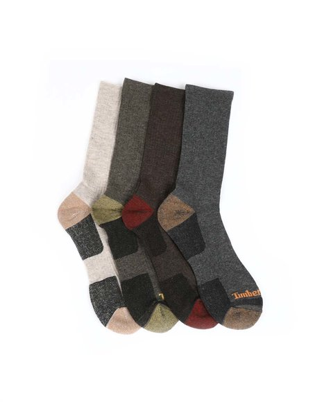 Timberland - 4PK Contrast Crew Socks