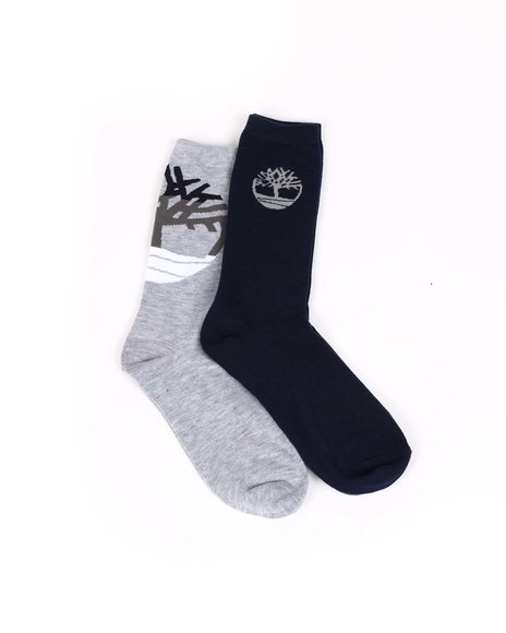 Timberland - 2PK Fashion Crew Socks