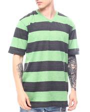 Buyers Picks - Melange Bar Stripe V Neck-2602464