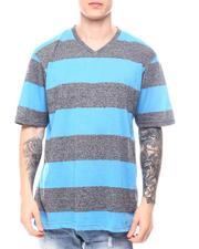 Buyers Picks - Melange Bar Stripe V Neck-2602484