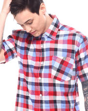 Button-downs - Candy Plaid Short Sleeve Button Down-2601435