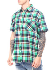 Button-downs - Hipster Plaid Short Sleeve Button Down-2601465