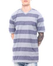 Buyers Picks - Melange Bar Stripe V Neck-2602419