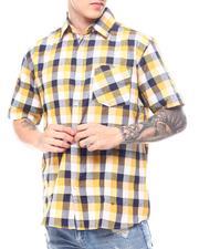 Button-downs - Plaid Short Sleeve Button Down-2601410
