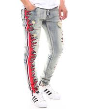 Jeans - magma Stripe Jeans Red White-2603823