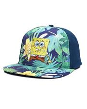 Accessories - SpongeBob Tropical Floral Constructed Skater Hat-2603876