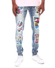 Jeans - Pop Collage Graphic Jeans-2603918