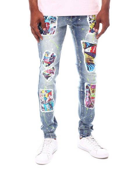 Cooper 9 - Pop Collage Graphic Jeans