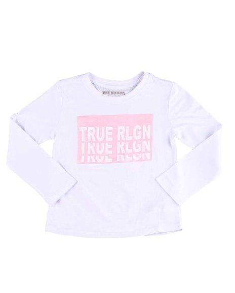 True Religion - Long Sleeve Repeat TR Tee (4-6X)