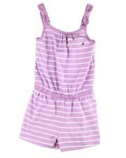 Rompers - Stripe Knit Romper W/ Bow Accent (7-16)-2599404