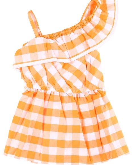 Nautica - Gingham One Shoulder Dress (2T-4T)