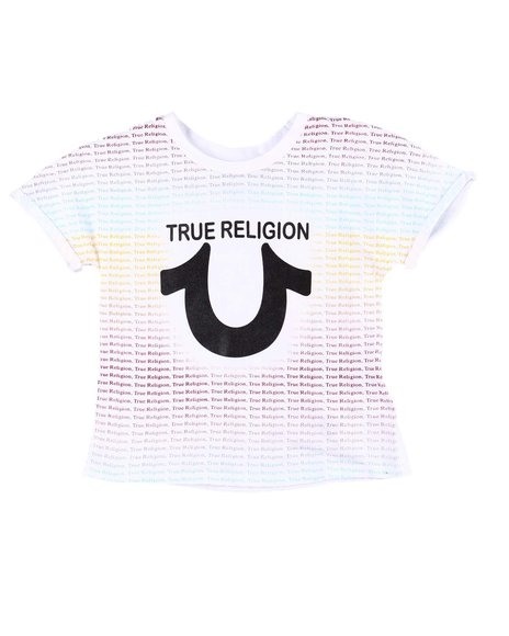 True Religion - Repeat Text Tee (4-6X)