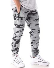 Buyers Picks - Pin Dot Camo Print with Reflective Zipper Pockets Jogger-2604190