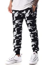Buyers Picks - Pin Dot Camo Print with Reflective Zipper Pockets Jogger-2604180