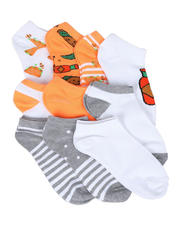 Fashion Lab - 10PK Tacos Mini Print Ankle Socks-2604616