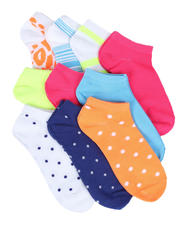 Fashion Lab - 10PK Neon Multi Color Ankle Socks-2604644