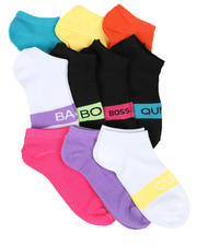 Fashion Lab - 10PK Verbiage Ankle Socks-2604647