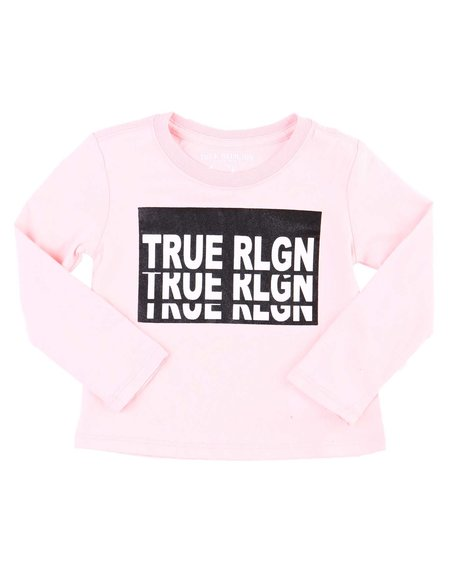 True Religion - Long Sleeve Repeat TR Tee (2T-4T)