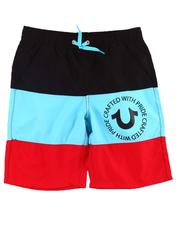 Sizes 8-20 - Big Kids - Big Stripe Swim Trunks (8-20)-2598901