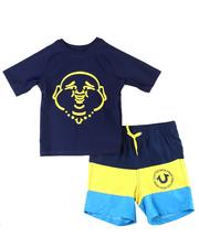 Boys - 2 Pc Buddha Rash Guard & Swim Trunk Set (2T-7)-2599014
