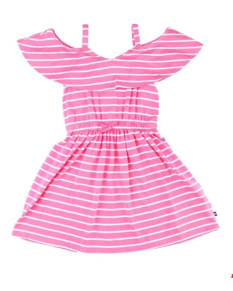 Nautica - Neckline Flounce Cold Shoulder Dress (7-14)