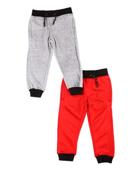 Arcade Styles - 2 Pack Solid Jogger Pants (2T-4T)