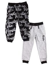 Boys - 2 Pk All Over Verbiage & Hustle Marled Joggers (4-7)-2599882