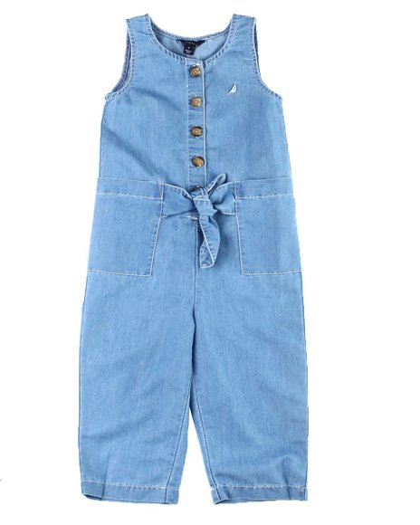 Nautica - Chambray Tie Front Jumpsuit (4-6X)