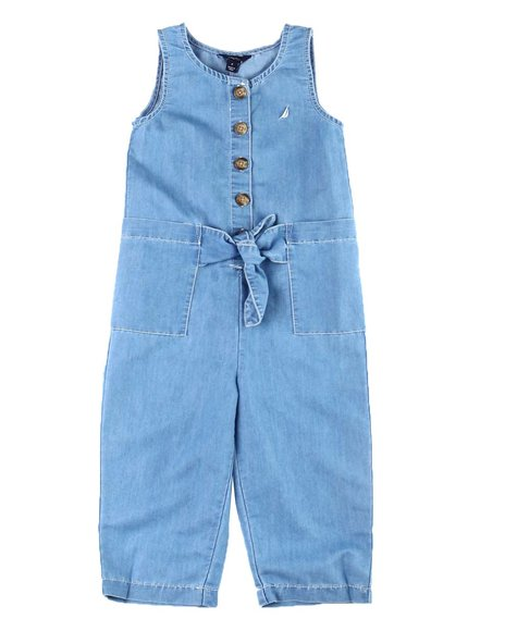 Nautica - Chambray Tie Front Jumpsuit (7-16)