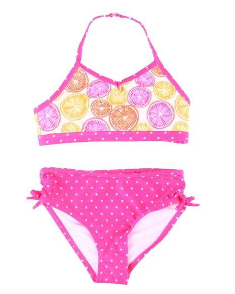 Nautica - Citrus & Dot Two Piece Swimsuit (7-14)