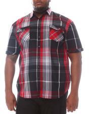 Button-downs - Plaid Short Sleeve Woven Shirt (B&T)-2604278