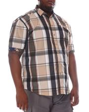 Button-downs - Plaid Short Sleeve Woven Shirt (B&T)-2604272