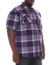 Button-downs - Plaid Short Sleeve Woven Shirt (B&T)-2606306