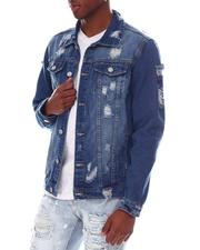 Denim Jackets - Distressed Denim Jacket-2607060