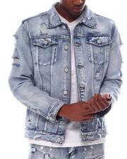 Denim Jackets - Distressed Denim Jacket-2607072