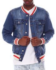 Denim Jackets - Baseball Denim Jacket-2607083