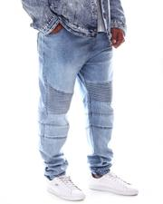 Big & Tall - Denim Biker Jogger Pants (B&T)-2608528