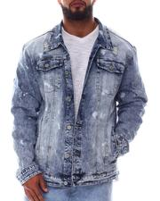 Outerwear - Distressed Stretch Denim Jacket (B&T)-2608579
