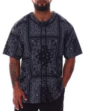 Big & Tall - Bandana Paisley Baseball Jersey (B&T)-2608434