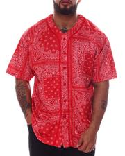 Big & Tall - Bandana Paisley Baseball Jersey (B&T)-2608455