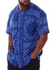 Big & Tall - Bandana Paisley Baseball Jersey (B&T)-2608459