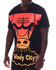 NBA, MLB, NFL Gear - CHICAGO BULLS Flames S/S Tee-2607408