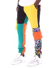 OUTRANK - Kanda Retro Color Blocked Joggers-2609288