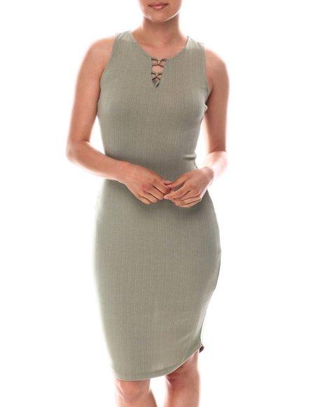 Fashion Lab - Bead Detail Midi Dress