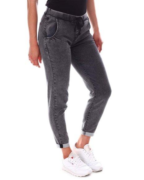 YMI Jeans - Kozy Fit Denim Elastic Waist Roll Cuff