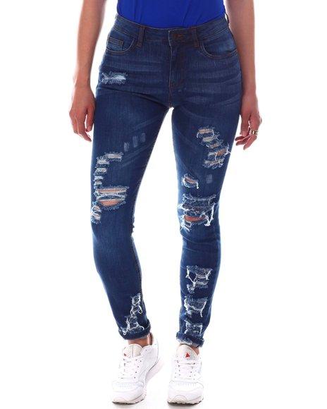Fashion Lab - Distressed High Waist Jeans