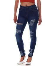 Jeans - High Waist Ripped Detail Jeans-2586606