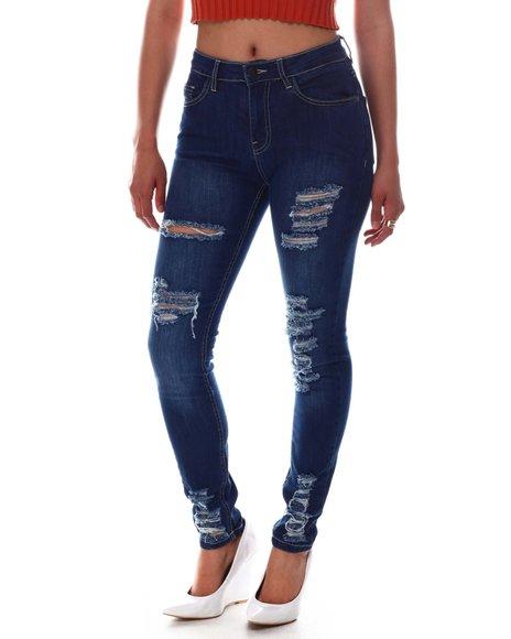 Fashion Lab - High Waist Ripped Detail Jeans