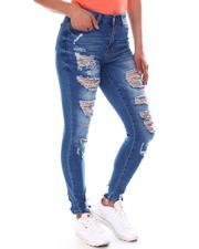 Jeans - Distressed Raw Hem Jeans -2591775