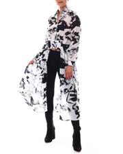 Fashion Lab - Cut Out Front Maxi Duster-2609548